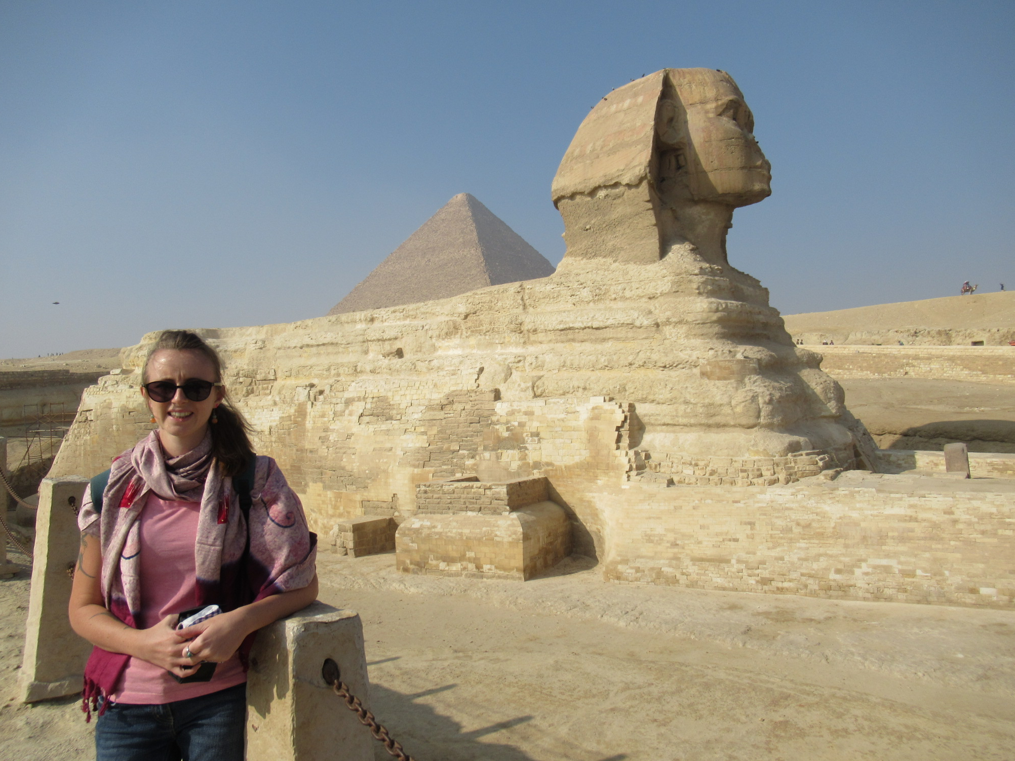 Great Sphinx of Giza, Egypt, Ollie and Lynette on the World